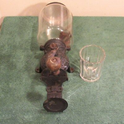 Antique cast iron coffee grinder for parts or repair