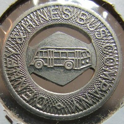 1941 Denney & Hines Bus Company Muncie, IN Transit Bus Token - Indiana Ind.
