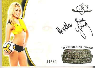 2011 Benchwarmer Trading Card Heather Rae Young 33/50 Premium