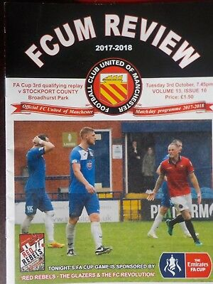 FC UNITED of MANCHESTER v STOCKPORT COUNTY,3.10.2017.FA Cup REPLAY