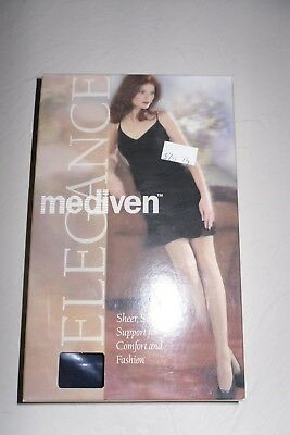 "Mediven Compression 12-16 #04136 Size F Pantyhose Color Navy ""Must See"""