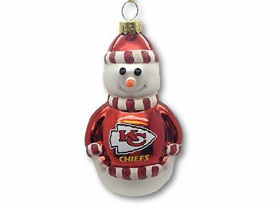 Topperscot Christmas Tree Ornament Kansas City Chiefs NFL Blown Glass Red 3.5""
