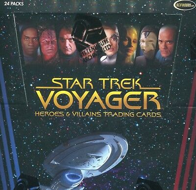 Star Trek Voyager Heroes & Villains Sealed Trading Card Box