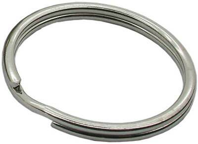 Steel Keyring Split Key Rings Double Loop - Nickel Plate - 15 mm, 25 mm, 35 mm
