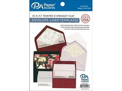 Paper Accents Adpadd.5  Adpadd 5 Envelope Liner Templates 4Pc A2 A7