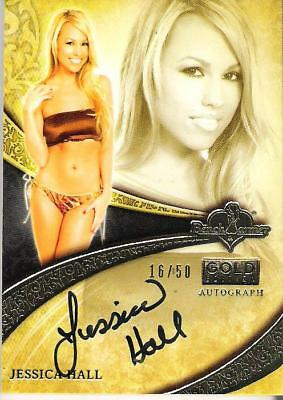 2013 Benchwarmer Gold Edition Authentic Autograph Jessica Hall 16/50