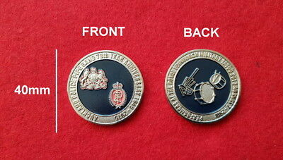 Auckland Police Pipe Band 70th Anniversary Challenge Coin (social)