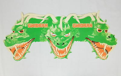 Vintage Original Ghidrah King Ghidorah Godzilla Paper Face Mask RARE 1964 UNUSED