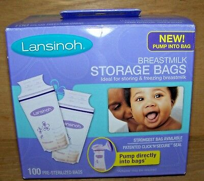 Lansinoh Breastmilk Breast Pump Storage Bags 100 Count New