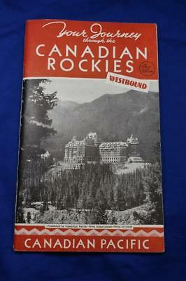 Vintage 1937 Your Journey through the Canadian Rockies book Canadian Pacific R.R