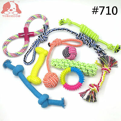 Dog Rope Toys Nolsen Pet Puppy Chew Toy Gift Set Durable Cotton Clean Teeth