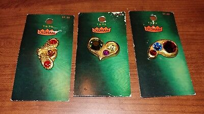 Lot B Designer Todd Oldham 1990 Brass Buttons Original Card