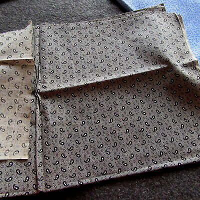 Antique Fabric Calico BLACK Gray White Dolls Quilt book cover PRIMITIVE PICOTAGE