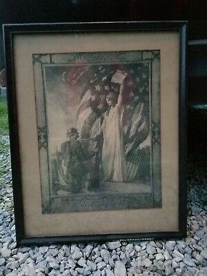 Antique US Amy WWI Service Honor Award Signed President Woodrow Wilson Autograph