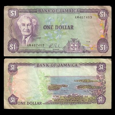 Bank of JAMAICA 1985 One Dollar Circulated Banknote