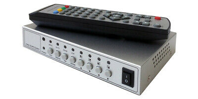Dual RCA Video Split-Screen Mixer With PIP Support + IR Remote
