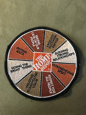 Home Depot Values Wheel Patch Apron Badge THD Used RARE L@@K!!!