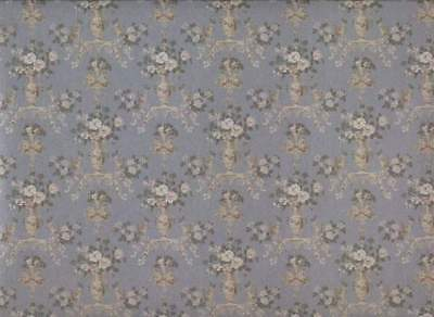 1/12 Scale Beautiful Dubarry Blue Dollhouse Wallpaper by Mini Graphics #MG204D23