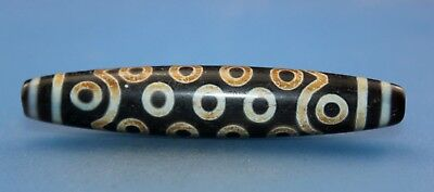 79*15 mm Antique Dzi Agate old 27 eyes Bead from Tibet **Free shipping**