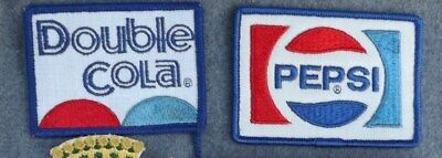 Lot of 4 Soda PEPSI Dr Pepper Canada Dry Double Cola NEW Jacket Patch Patches