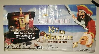 Captain Morgan's Spiced Rum LARGE Hanging  Banner Sign Bar Promo 3 ft. X 6 ft.