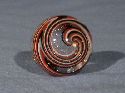 Marbles: Hand Made Art Glass James Alloway Dichroic Marble#2641   1.13inch