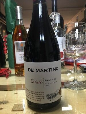 6x De MARTlN0 CHILE  Estate Syrah 2015 0,75l 13,5% SHIRAZ