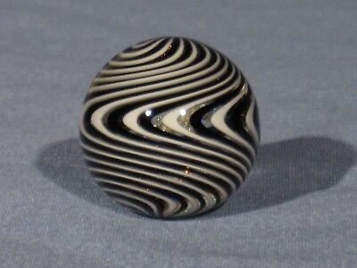 Marbles: Hand Made Art Glass James Alloway Dichroic Marble#2642   1.08inch