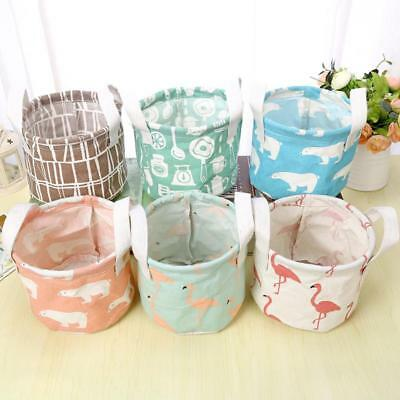 Portable Storage Baskets Bins Small Cabinet Cute Cotton Fabric Container Basket