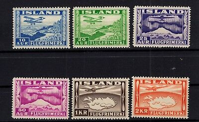 P79569 / Islande / Iceland / Air Mail / Scott # C 15 / C 20 Neufs * / Mint Mh
