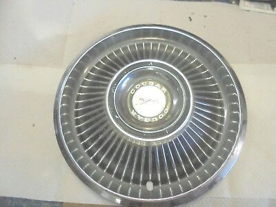 vintage automobile metal hubcap cougar ford mercury fence bar girlcave decor
