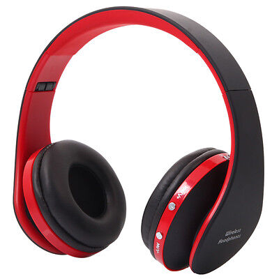 Foldable Wireless Bluetooth Stereo Headphone Headset Mic For Smart Phone
