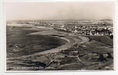 """""""""""postcard Cobo Bay And Grand Rocques,guernsey,channel Islands"""""""""""