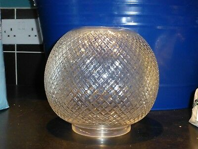 Antique english messengers cut glass oil lamp shade 4 inch fit superb no reserve