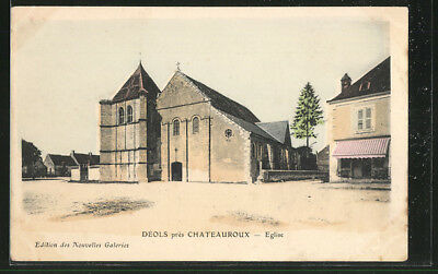 CPA Deols, Eglise pres Chateauroux 1904