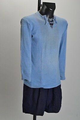 Early C20th Wool Football Shorts & Rough Cotton Shirt. Ref IGLJ