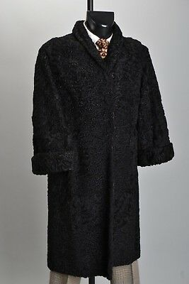 Ladies' Mid C20th Persian Lamb Astrakhan Wool / Fur Coat. Ref IOQ