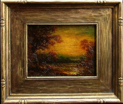 LISTED Hudson Kitchell Tonalist Landscape at Sunset Oil Painting NO RESERVE