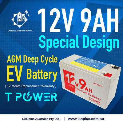 12V 7.5AH > 7 AH Rechargeable High Power Battery Electric Scooter Bike Car SLA