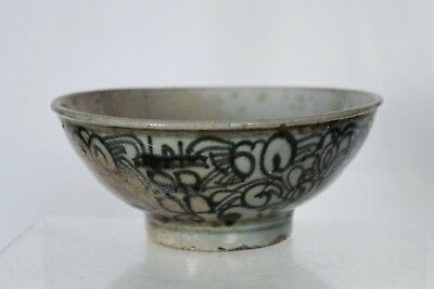 Collectable Early Antique Chinese Blue and White Handpainted Bowl - signed