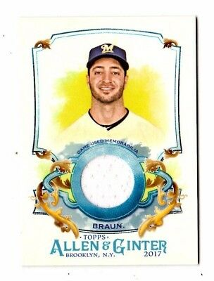 Ryan Braun Mlb 2017 Topps Allen And Ginter Relics (Milwaukee Brewers)