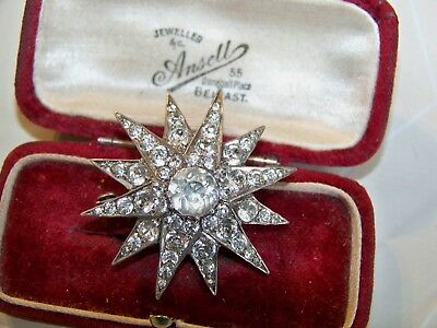 Vintage Sterling Silver Jewellery Graduating Star Brooch Pin London Hallmarks