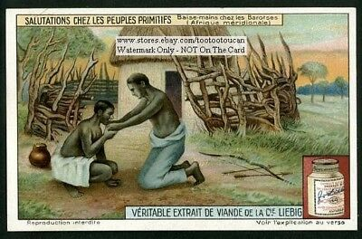African Hand Kissing Native Greeting 1920s Trade Ad Card