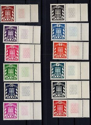 P82794/ French Saar / Sarre Fr / Official / Sg # O264 / O275 Mnh Complete 210 €