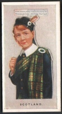 Scotland Young Child  With Pop-Up Image 1920s Ad Trade Card Boy Tartan
