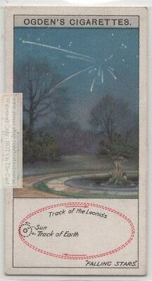 Path Of The The Leonids Falling Stars Meteor Shower  c90 Y/O Trade Ad Card