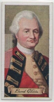 Lord Robert Clive British India Battle Plassey Empire 80+ Y/O Trade  Card