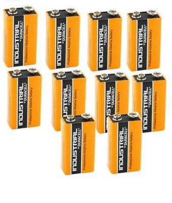 10x Duracell 9V PP3 Industrial Procell Batteries, Smoke Alarm, LR22 BLOC MN1604