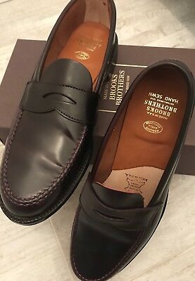 935992d033c UNLINED SHELL CORDOVAN Penny Loafer Brooks Brothers Size 10.5 Alden ...