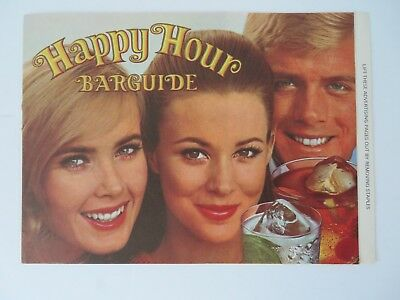 Vintage 1969 Southern Comfort Happy Hour Bar Guide  #8452